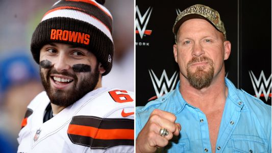 Here's why Baker Mayfield was hanging with 'Stone Cold' Steve Austin in Cleveland