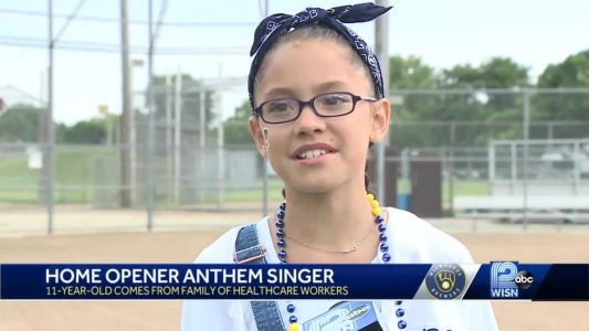 11-year-old girl to sing national anthem for Brewers home opener