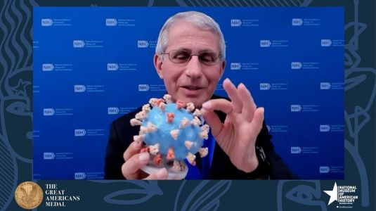 Dr. Fauci is giving his personal 3D model of the coronavirus to the Smithsonian