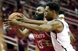 James Harden has 58 points in Rockets' OT loss to Nets