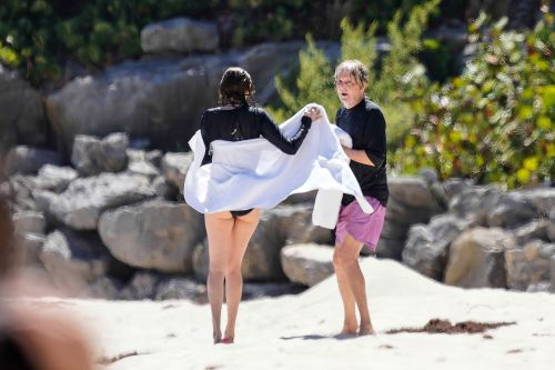 Paul McCartney and Nancy Shevell hit the beach in St. Barts