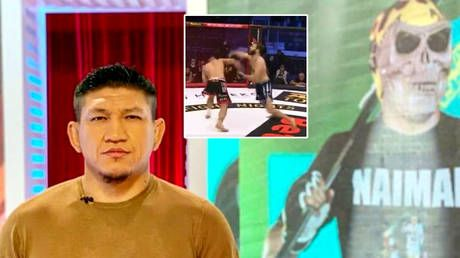 Deadly finish: Kazakh MMA fighter arrested over Covid controversy digs foe's grave before jumping in after brutal knockout