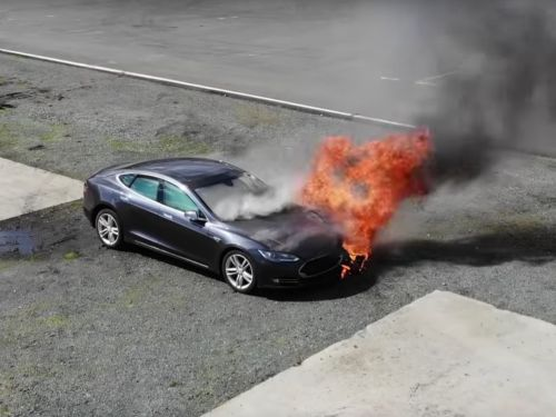 Tesla is facing scrutiny for its cars catching on fire, but electric cars could actually end up being safer than gas-powered cars
