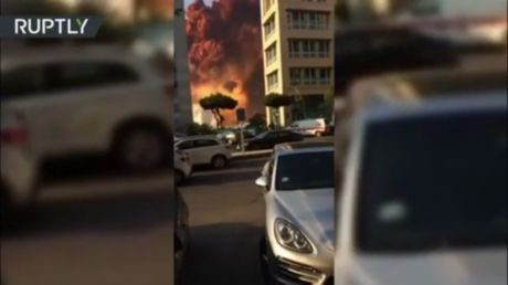 Newly-emerged VIDEO shows how intense the Beirut explosion was, as search for more than 60 missing still underway