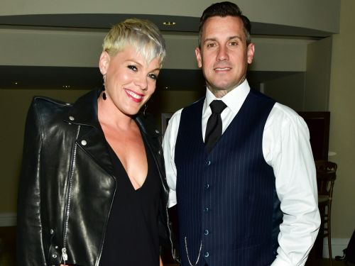 Pink's husband Carey Hart defends the 2nd amendment after posting a controversial image warning 'looters will be shot' during the California fires