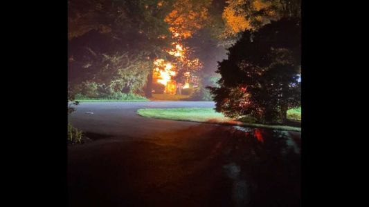 Vancant home destroyed by fire in Lancaster County