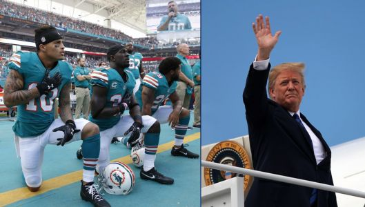 Trump slams NFL, Roger Goodell for freezing National Anthem rule