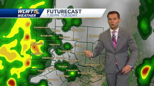 Showers and storms move in