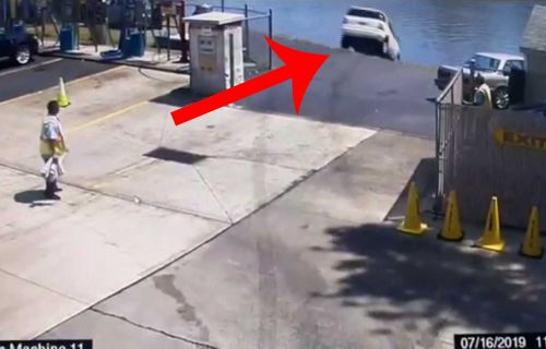 SUV driver mistakes gas for brake, crashes into New Jersey river
