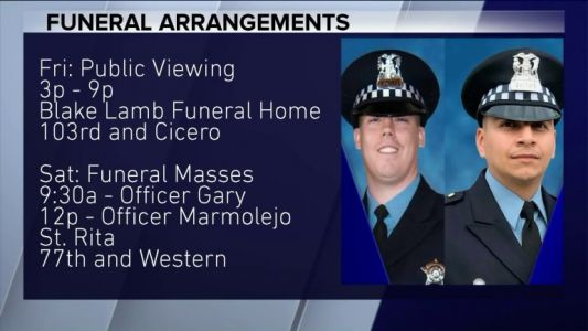 Funeral services announced for two CPD officers killed by train