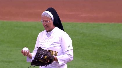 'Pitching Nun' Shows Off 'Nunbelievable' Dance Moves