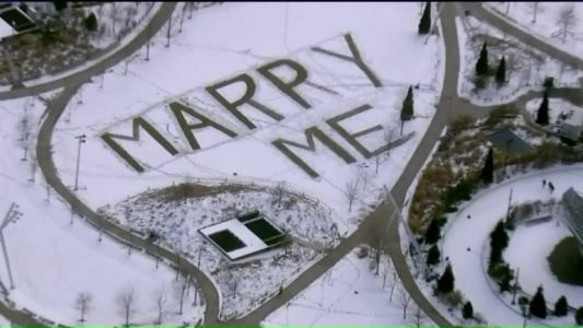 'MARRY ME': The story behind a giant proposal message spotted downtown
