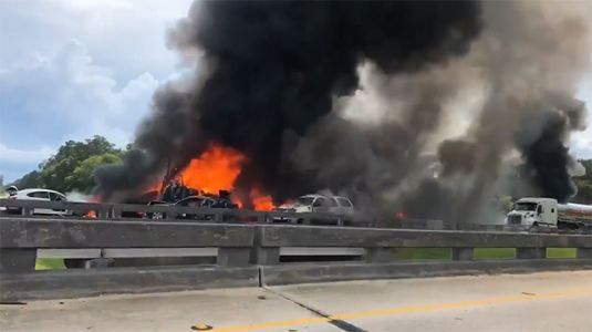 At least 4 dead after crash in Louisiana involved two semitrailers, cars