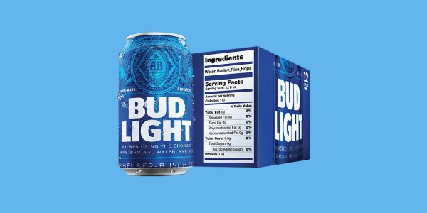 Bud Light first big beer company to have nutrition labels