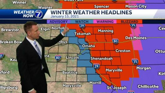 Strong winds Thursday, Blizzard Warning Friday