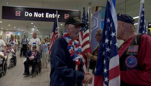 Veterans return home to OIA after Honor Flight