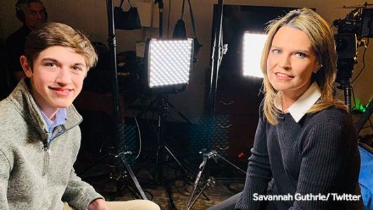 NBC's Savannah Guthrie sits down with CovCath student for his first interview