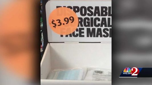 Face masks pulled from Brevard gas station after complaints of price gouging