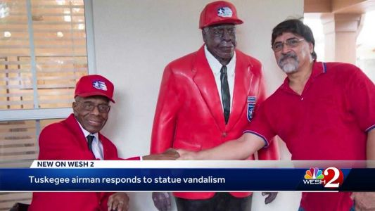 Tuskegee airman responds to statue vandalism in Winter Park