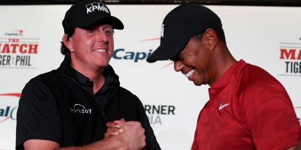 Phil Mickelson challenged Tiger Woods to a $100,000 bet on the first hole of their upcoming match and Tiger responded by doubling it