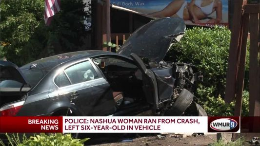 Woman leaves behind boy, 6, after crash, police say