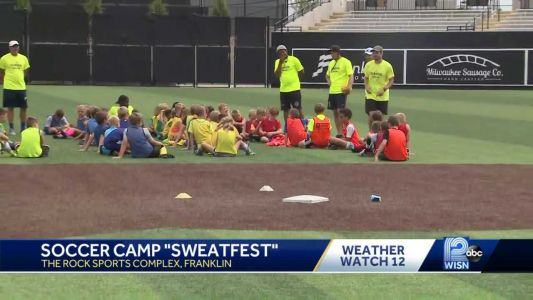 Kids at Milwaukee Wave soccer camp finding ways to keep cool