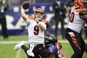 Ravens get defensive, stuff Burrows in 27-3 rout of Bengals