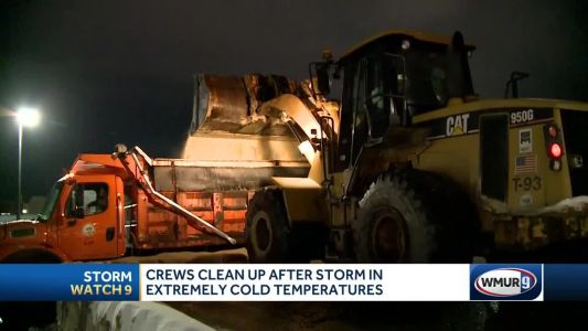 Street cleanup underway in extreme cold temperatures