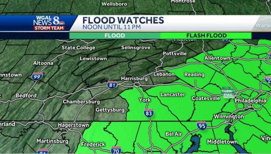 Forecast: Flash flood watch for parts of Susquehanna Valley