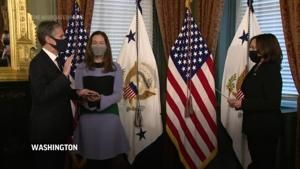 Kamala Harris administers oath to top US diplomat