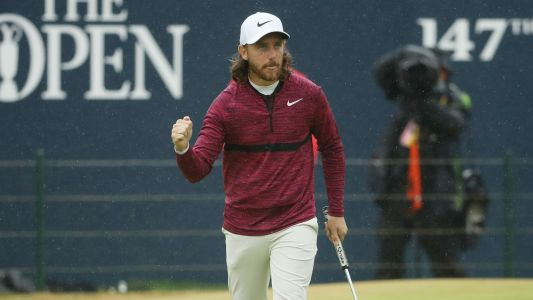 British Open 2018: Tommy Fleetwood fires 65, shares lead early in Round 2