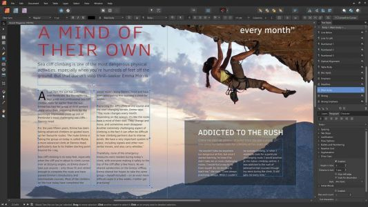 Affinity Publisher is now available from Serif