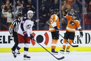 Konecny helps Flyers send Blue Jackets to 6th straight loss