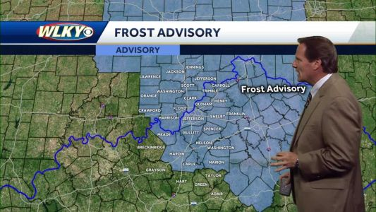 Frost Advisory Late Tonight, Nice Tomorrow Afternoon