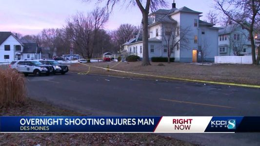Overnight shooting in Des Moines injures one person