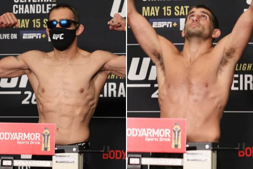 Video: UFC 262 official weigh-in highlights, photos from Houston