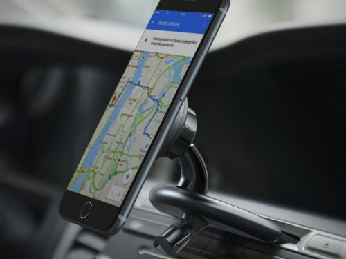 Keep your hands free and your eyes on the road with a magnetic car mount!