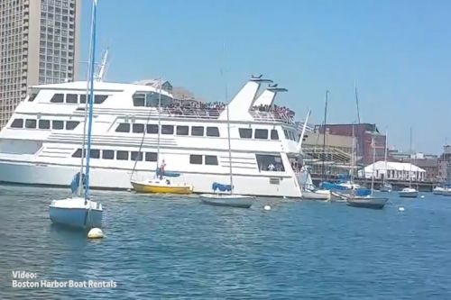 Cruise ship with 300 kids aboard hits sailboats in Boston Harbor