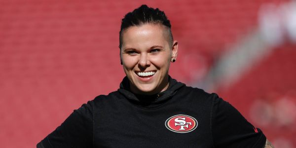 49ers' Katie Sowersis making history by becoming the first female and first openly gay coach at a Super Bowl game