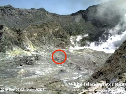 Webcam live feed showed tourists inside New Zealand volcano right before it erupted and killed at least 5
