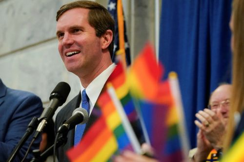 Kentucky governor makes history by attending gay rights rally