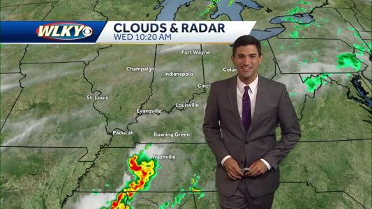 Chance for storms late day Wednesday