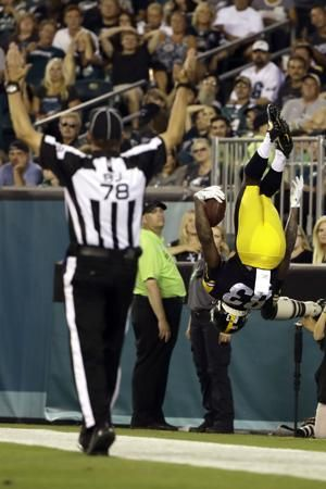 Young receivers impress in first game with Steelers