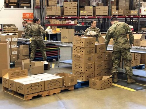 Pennsylvania National Guard helping local food bank