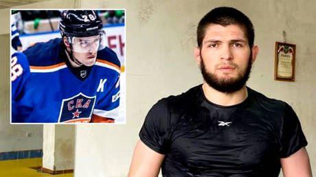 'You need to be more careful': Russian hockey star warns Khabib he has 'HUGE' responsibility not to risk violence after Macron row