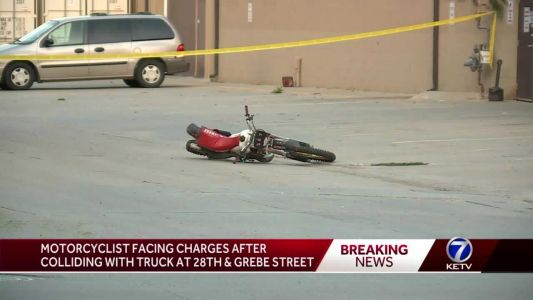 Omaha police: Dirt bike driver caused crash, will face charges