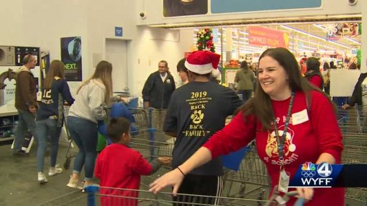 Seneca High School students take younger kids out for a shopping field trip