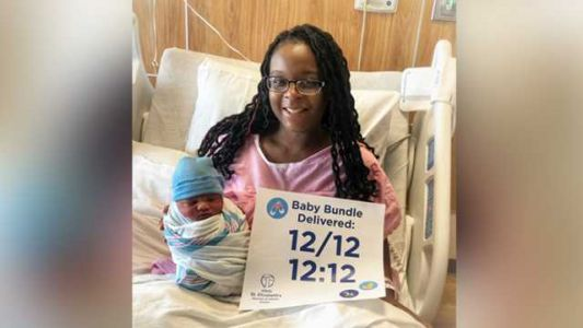 A baby was born at 12:12 p.m. on 12/12