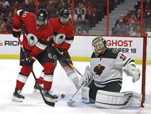 Wild blank Senators 2-0 for 1st win of the season