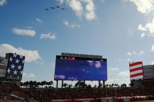 Broadcasters Joe Buck, Troy Aikman caught on hot mic appearing to criticize military flyovers